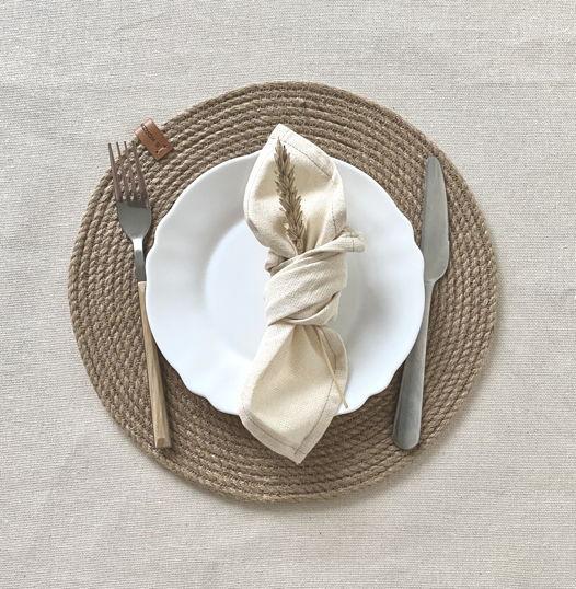 Салфетка сервировочная из джута