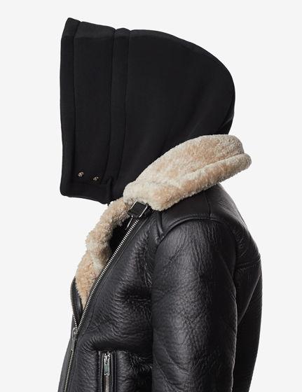 Шапка-капюшон утепленная черная