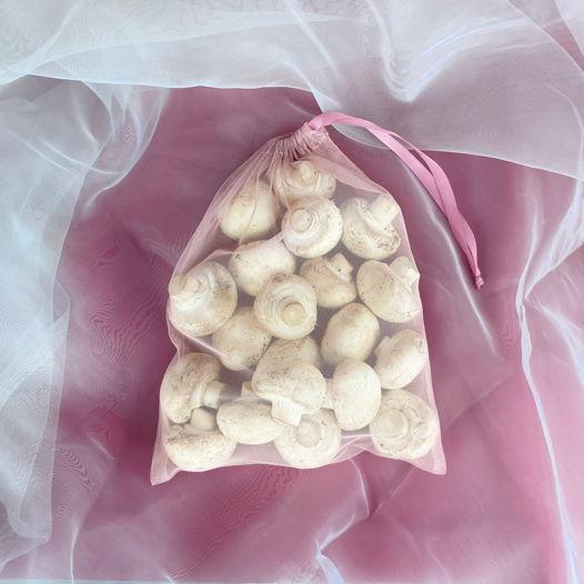 """Средний розовый мешочек """"Канделябр"""" для продуктов и хранения"""