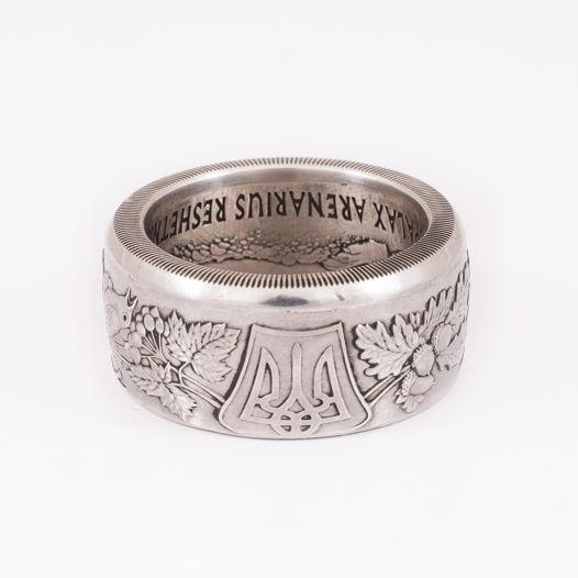 Кольцо из монеты - Украина 10 гривен Песчаный слепыш