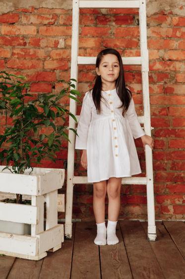 Платье хлопковое KYLIE в белом цвете