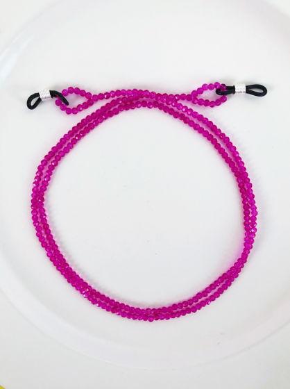 Цепочка для очков ручной работы из розовых бусин