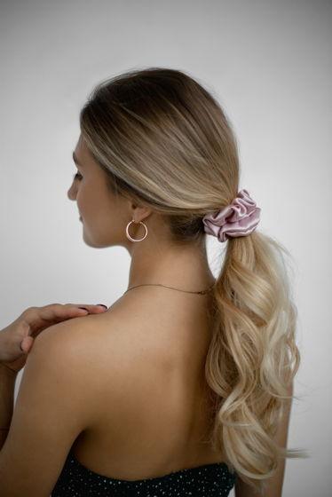 Резинка для волос STANDART из натурального шелка пурпурная