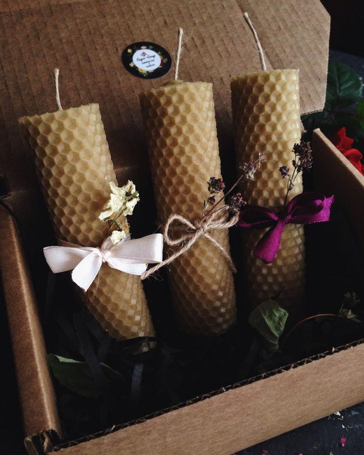 Набор медовых свечей