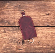 Ключница из натуральной кожи Сингапур - цвет бордо