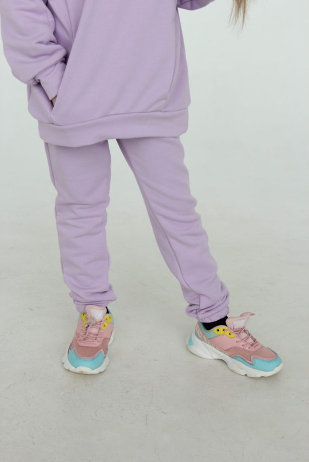 Детский костюм ОВЕРСАЙЗ Футер 3х нитка петля. Цвет лаванда