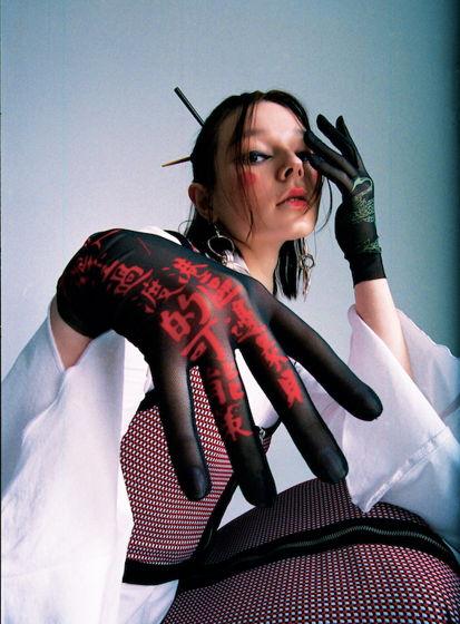 Перчатки с принтом BLACK DRAGON