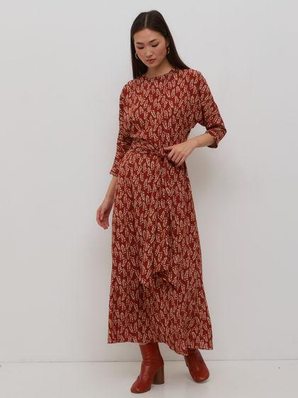 Платье миди Convallaria с рукавами летучая мышь