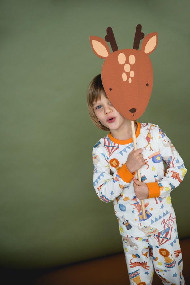 """Детская пижама с авторским принтом """"Цирк"""""""