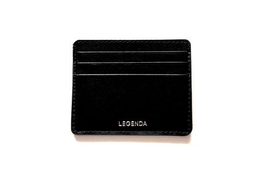 Кожаный кардхолдер-бумажник Calypso черный
