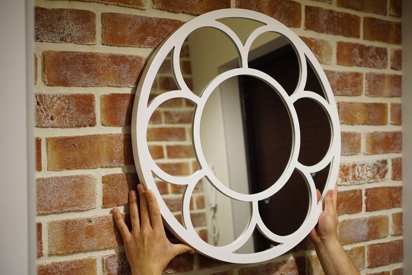 "Зеркало ""Fleur"" 60 см Белое"