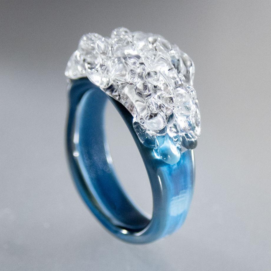 Кольцо Антарктида (авторское стекло)