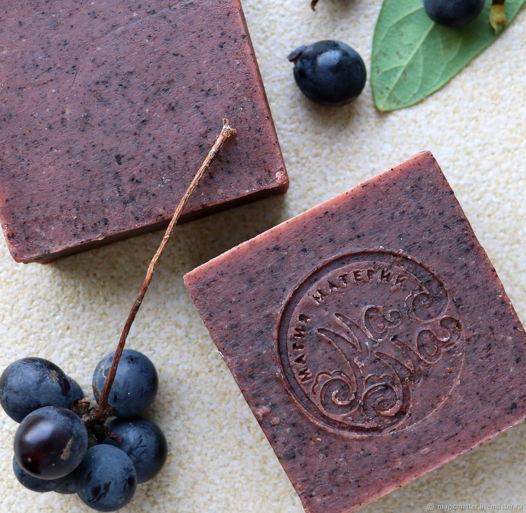 Мыло-скраб для тела Виноград