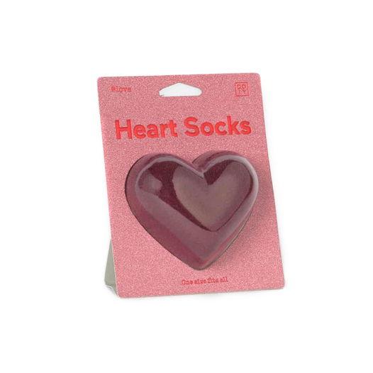 Носки в форме сердца DOIY Heart Socks - Red