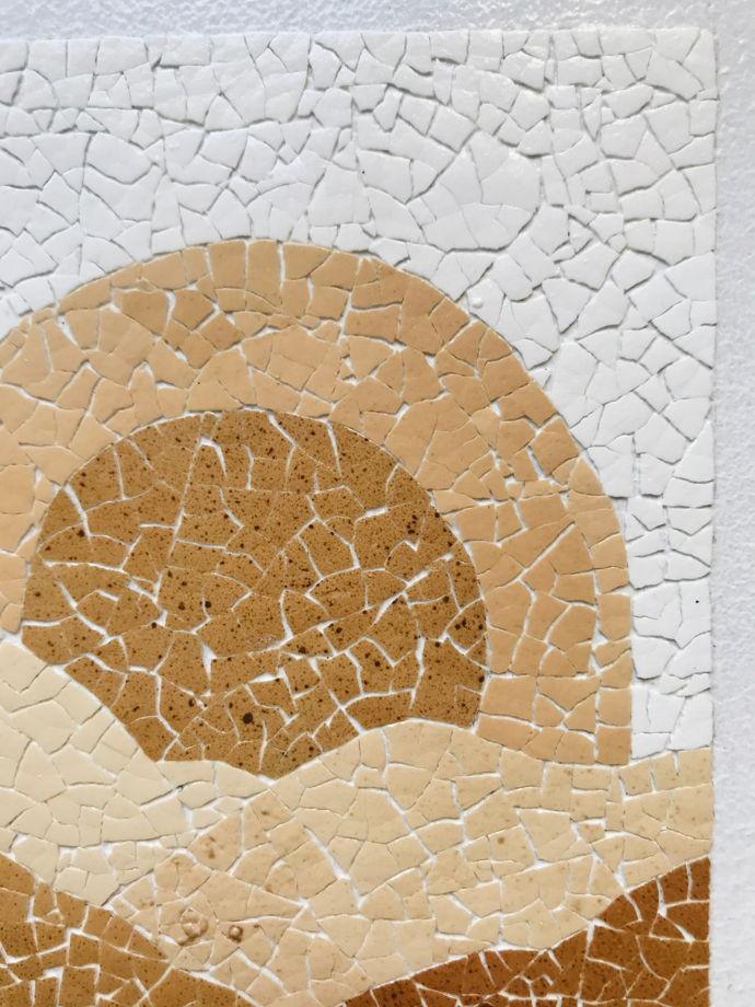 """Картина 15*20 см """"Восход"""" ручной работы из яичной скорлупы натуральных оттенков"""