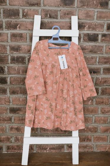 Платье с кокеткой из теплого хлопка.