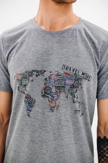 """Футболка с принтом """"Карта мира"""""""