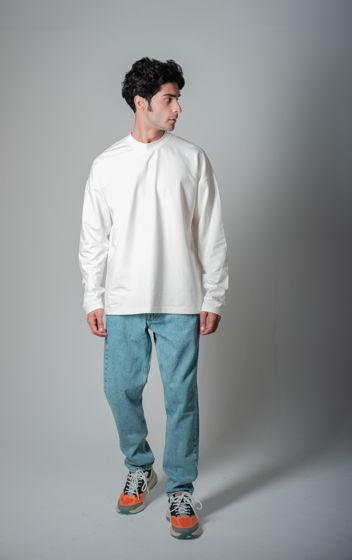 Белый лонгслив oversize