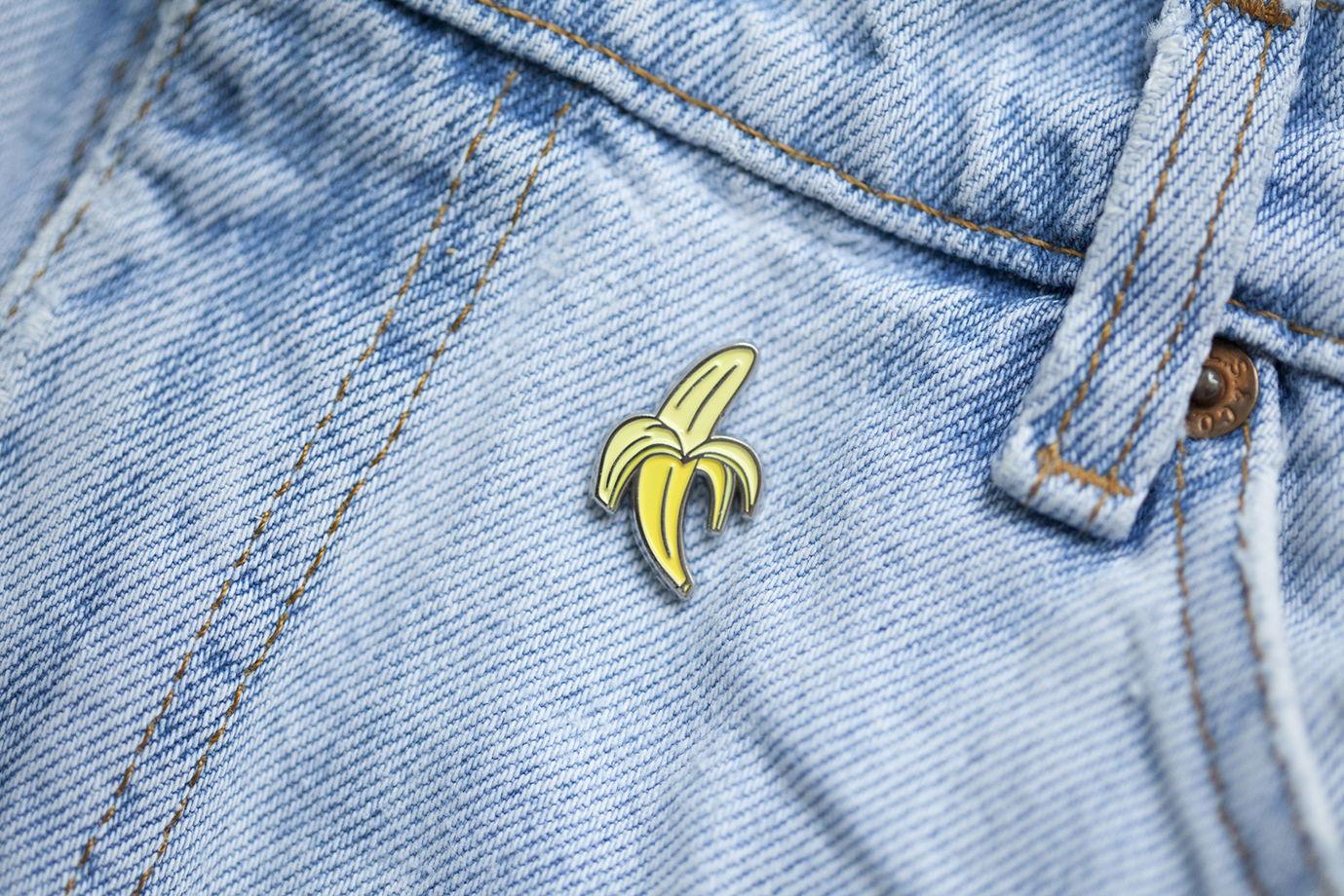 металлический значок «банан»