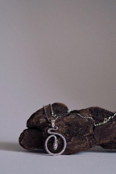 Кулон «Змея- символ трансформации» ,Серебро 925