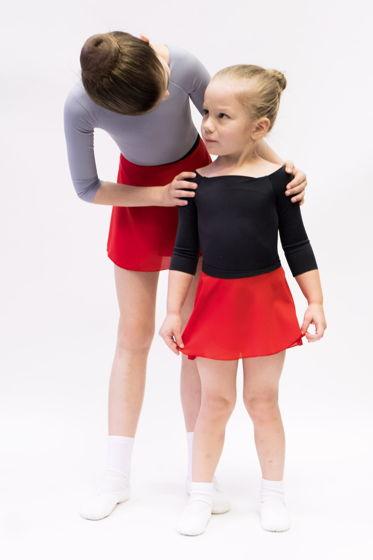 Детская юбка на запах с контрастным поясом для балета / хореографии