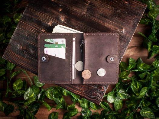 Портмоне водителя с отделением для купюр и карт -WALKER- цвет Шоколад