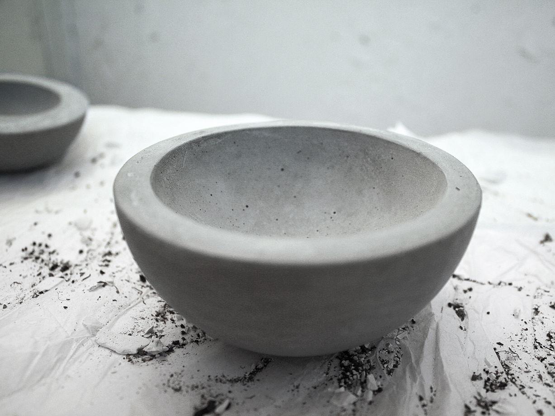 Пиала большая из бетона   коллекция basic