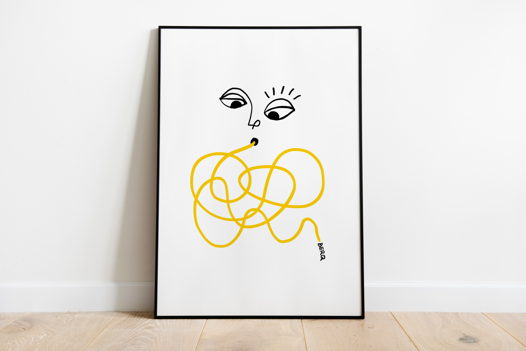 "Постер ""Спагетти х BERQ"""