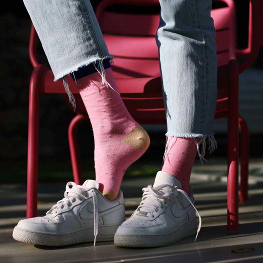 Носки DOIY в форме пончика - розовый