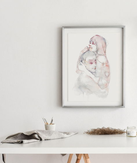 """""""PURE MARBLE"""" авторский постер для всех нежных сердцем"""