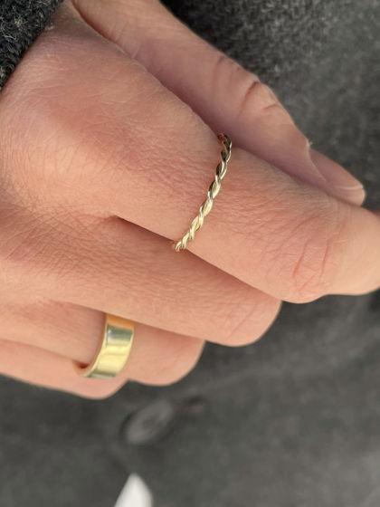 Позолоченное кольцо ВИТКИ из серебра 925