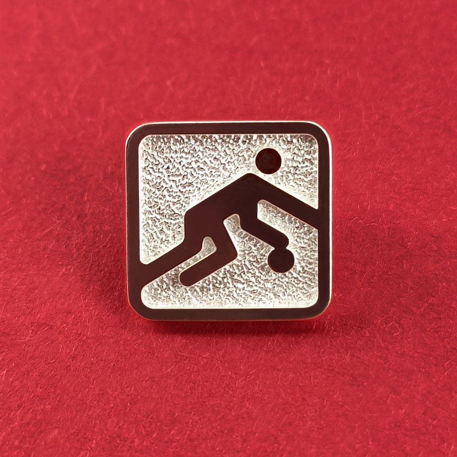 Серебряный значок Баскетбол Олимпиада 80