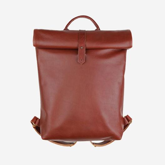 Кожаный рюкзак Rolltop Maxi Chestnut