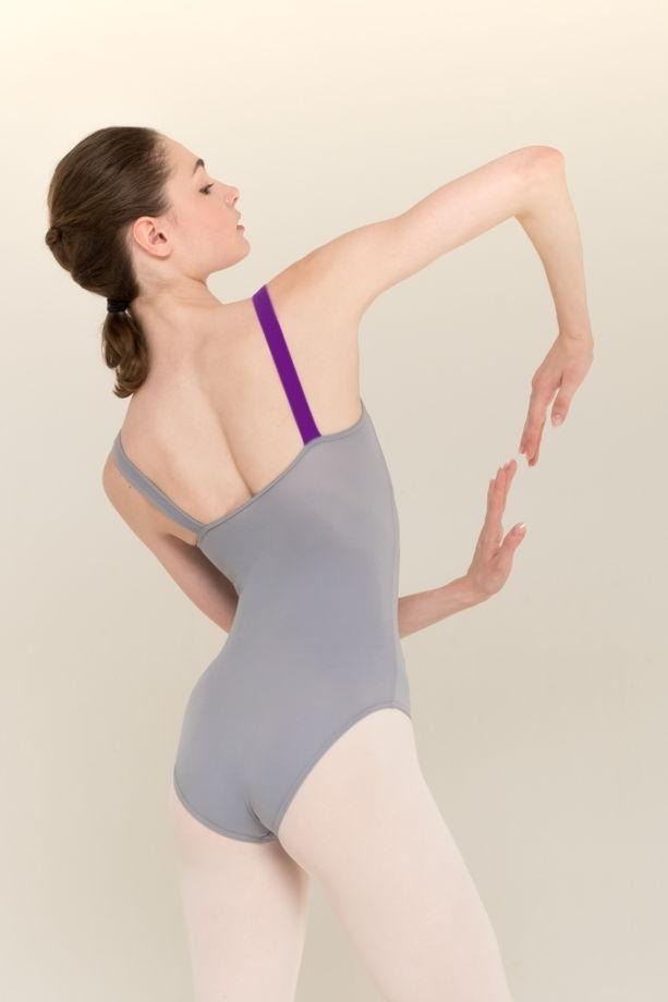 Купальник Лямка | basic в черном, сером и телесном цвете / боди для балета