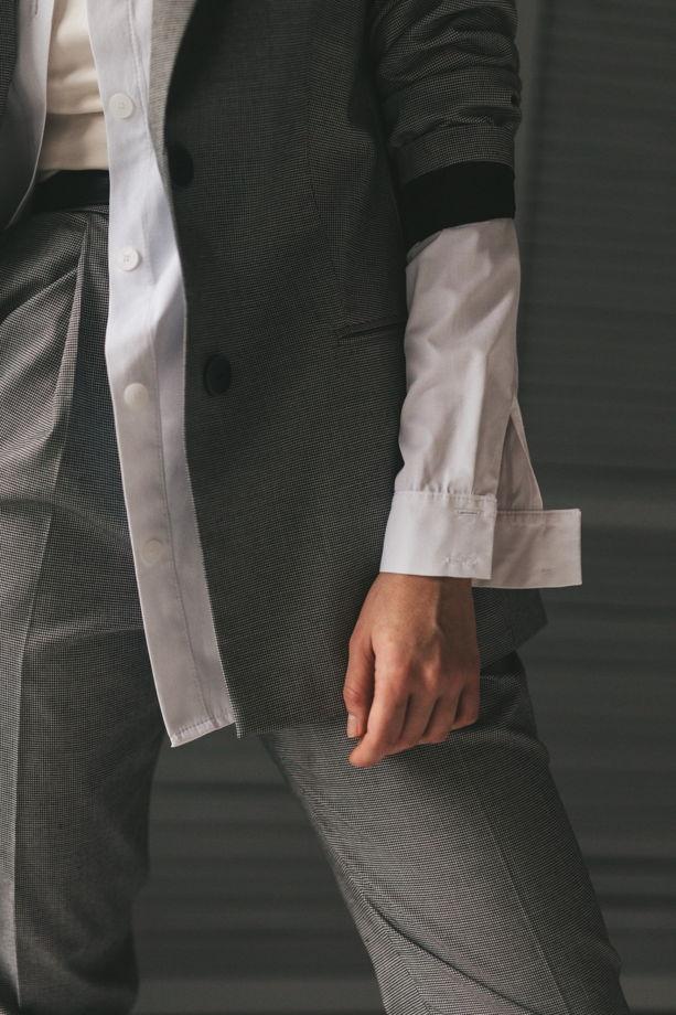 Женский брючный костюм с принтом Гусиная лапка