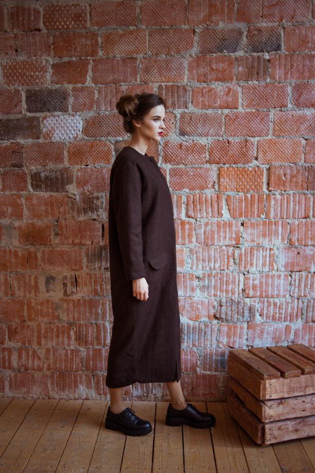 Пальто шерстяное с накидкой
