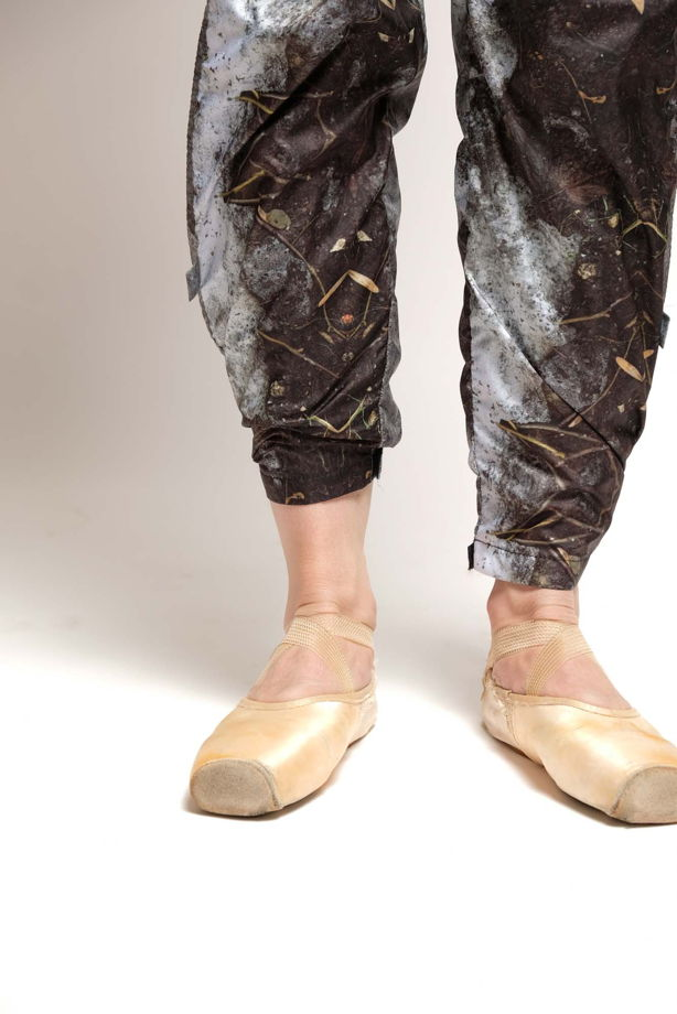 """Разогревающие штаны-сауна, испачканные принтом """"слякоть"""" для спорта / йоги / фитнеса"""