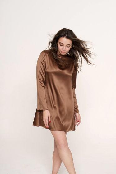 Платье-мини из шелка