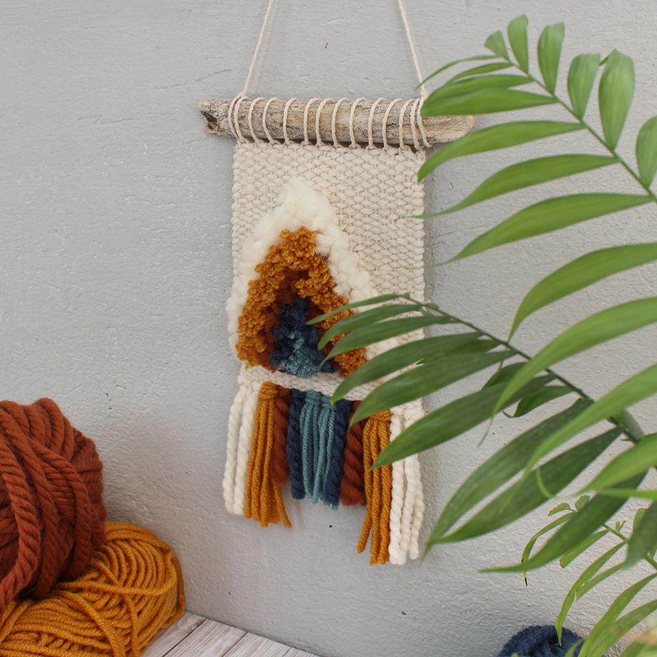 Панно №7 | Гобелен на стену в технике ткачество