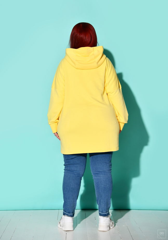"""Толстовка """"Люблю себя"""" в цвете лимон, размер 44-50"""