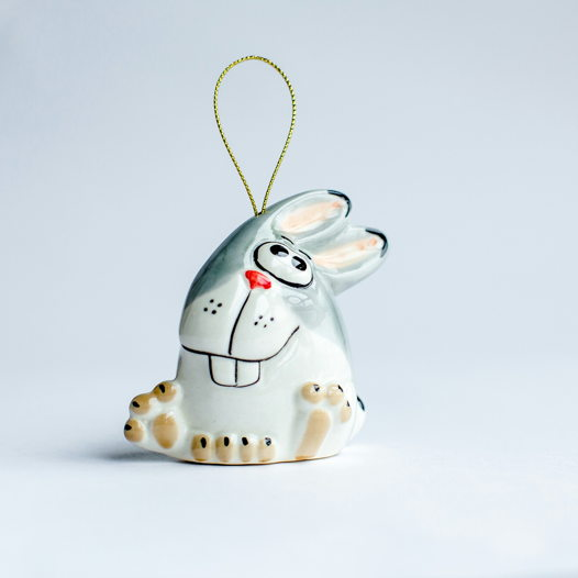Зайчик Игрушка на елку (елочные игрушки)