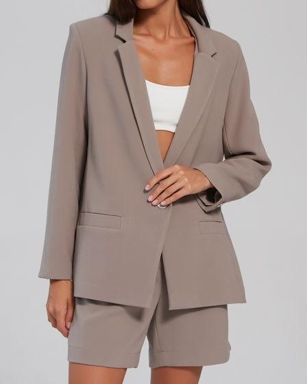 Пиджак женский // цвет: серый