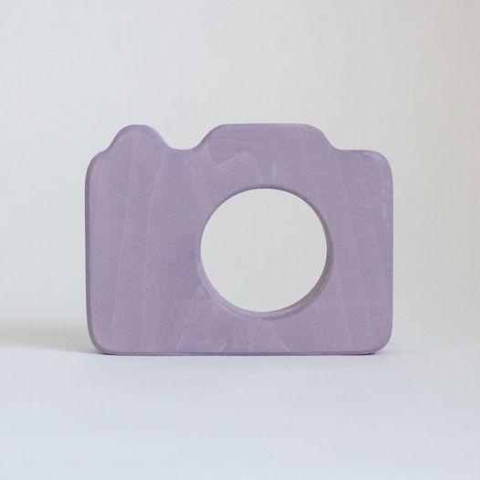 Деревянный Фотоаппарат для детей (сиреневый)