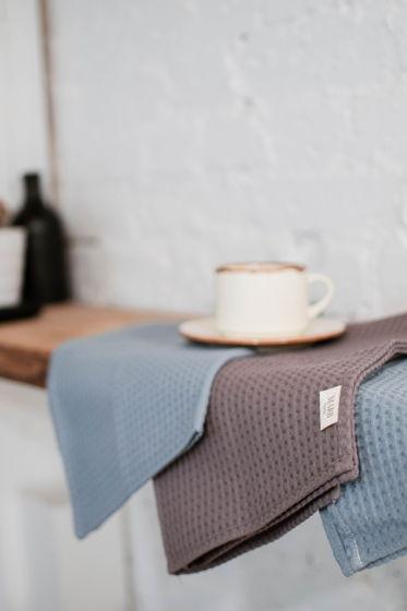 Полотенце из вафельной ткани «Светлый голубой цвет»