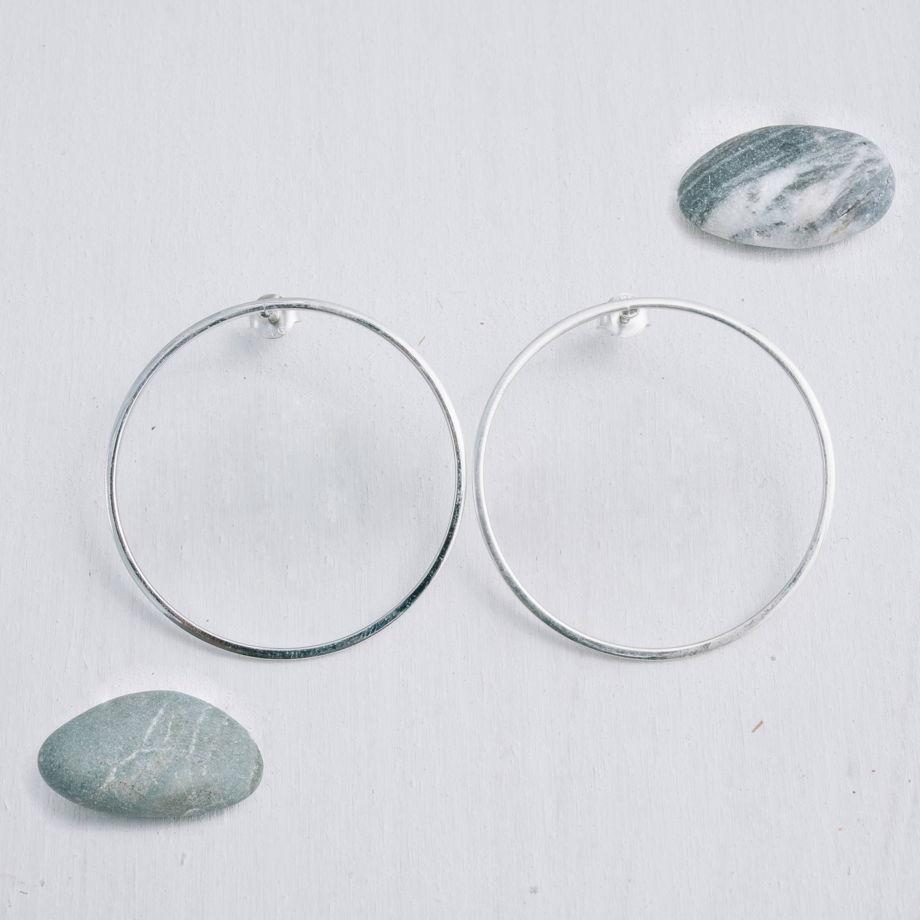 Серьги гвоздики кольца «Геометрия»
