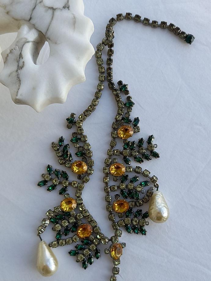 Старинное ожерелье со стразами, Чехия