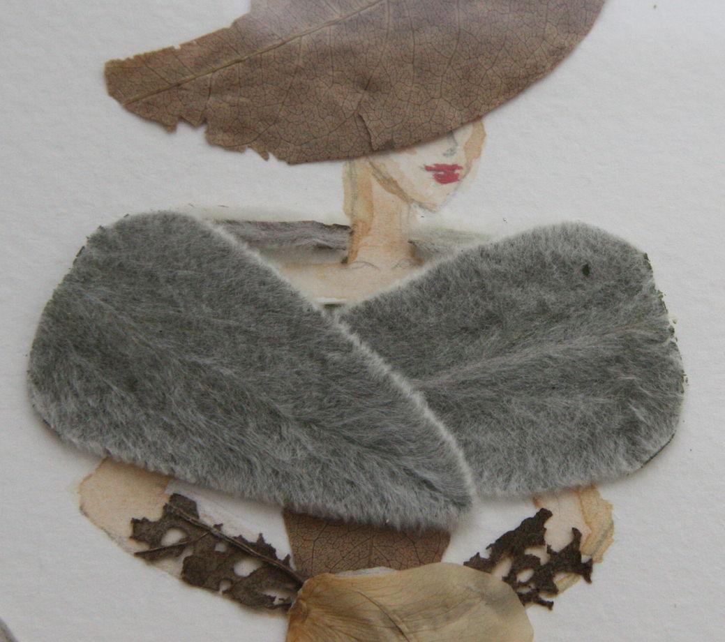 """Свадебный гербарий картина """"Дама в шляпе"""""""