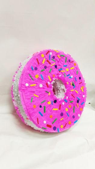 Пиньята пончик розовый