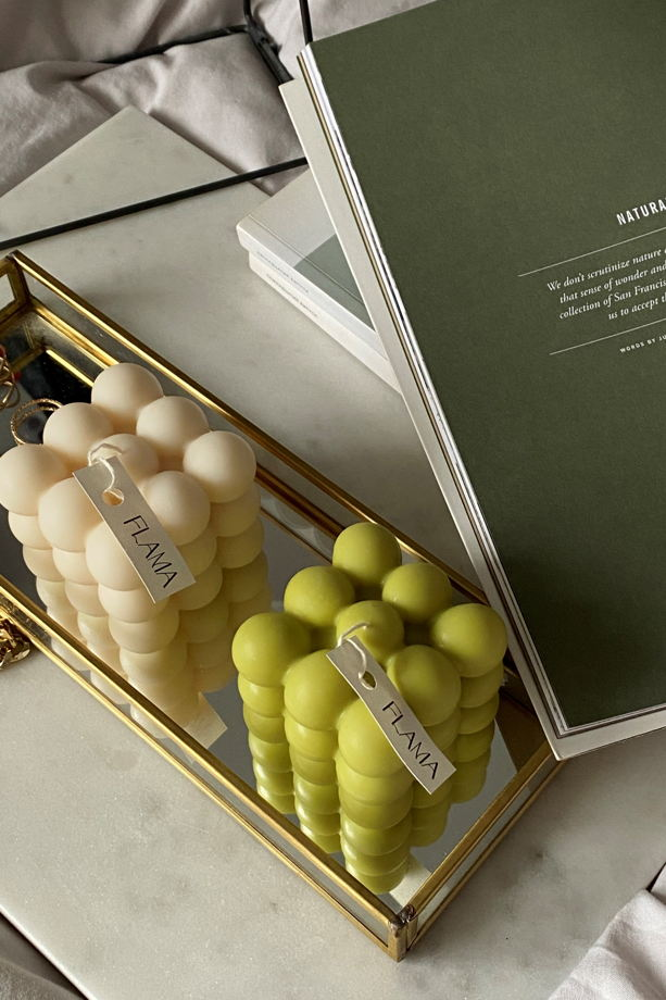 Набор соевых свечей (2 шт.) для подарка, интерьера и декора дома ручной работы Flama