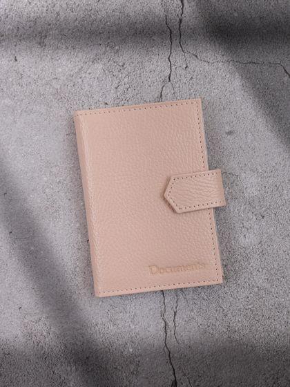 Обложка для автодокументов и паспорта Молочный
